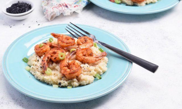 Cajun Shrimp & Cauliflower Grits