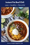 instructions for making beef chili in an instant pot