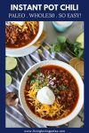 an easy chili recipe made in the instant pot