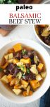 balsamic beef stew made in an instant pot
