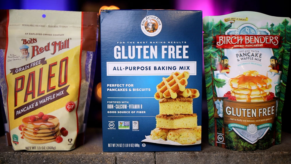 packages of gluten free waffles