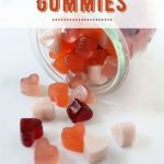 gut healing gummies in pink, red and white