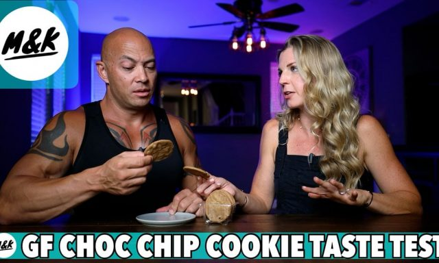 man and woman testing gluten free cookies